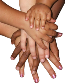 Hands joined as one
